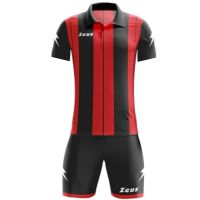 ΕΜΦΑΝΙΣΗ ΠΟΔΟΣΦΑΙΡΟΥ ZEUS SET PITAGORA SHORT SLEEVE BLACK/RED