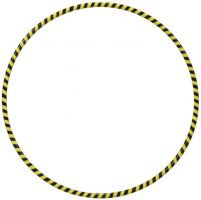 ΣΤΕΦΑΝΙ hoopmania WEIGHT HOOP PLUS 105cm 1.3Kg Yellow/Black 105130030